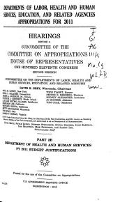 Departments of Labor  Health and Human Services  Education  and Related Agencies Appropriations for 2011 PDF