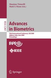 Advances in Biometrics: Third International Conferences, ICB 2009, Alghero, Italy, June 2-5, 2009, Proceedings