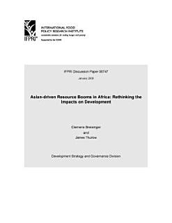 Asian driven Resource Booms in Africa  Rethinking the Impacts on Development Book