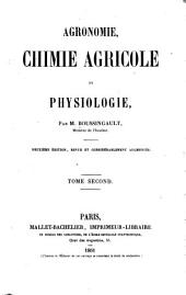Agronomie, chimie agricole et physiologie: Volume 2