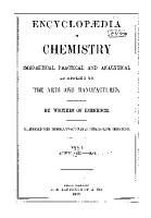 Encyclop  dia of Chemistry  Theoretical  Practical  and Analytical  as Applied to the Arts and Manufacturers  Acetic acid gas PDF
