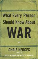What Every Person Should Know About War PDF