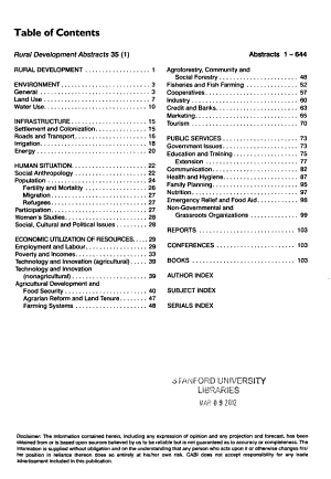 Rural Development Abstracts PDF