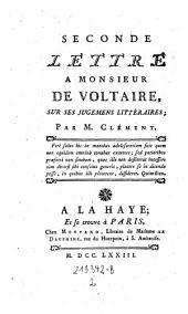 Lettre a Monsieur de Voltaire: Volume2