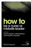 How to be a Nurse or Midwife Leader PDF