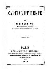 Capital et rente