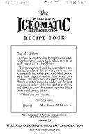 The Williams Ice-O-Matic Refrigeration Recipe Book