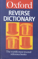 The Oxford Reverse Dictionary PDF