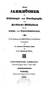 Jahnsche Jahrbücher für Philologie und Paedagogik: Band 43