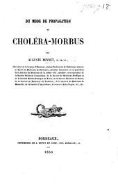 Du mode de propagation du choléra-morbus. (Discours.).