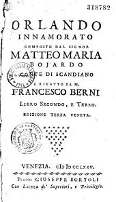 Orlando innamorato comporto dal Signor Marius-Matteo Bojorndo