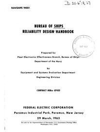 Reliability Design Handbook PDF