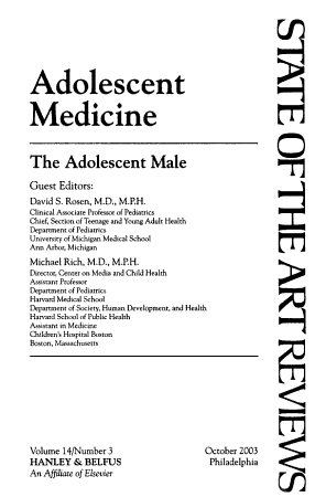 The Adolescent Male PDF