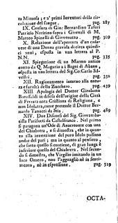 Raccolta D'Opuscoli Scientifici, E Filologici: Volume 6