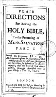 Plain Directions for Reading the Holy Bible PDF