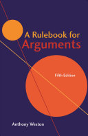 A Rulebook for Arguments PDF