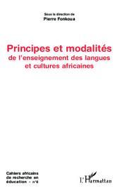Principes et modalités de l'enseignement des langues et cultures africaines