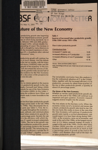 The Future of the New Economy