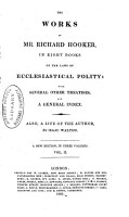 The Works of Mr  Richard Hooker in Eight Books of the Laws of Ecclesiastical Polity PDF