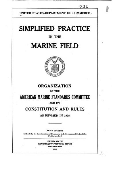 Simplified Practice in the Marine Field