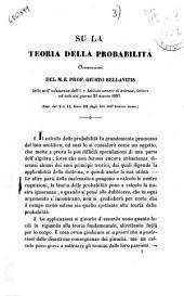 Su la teoria della probabilità osservazioni di Giusto Bellavitis