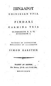 Carmina tria Olympiacorum 2 et VI Pyhtyiorum 1