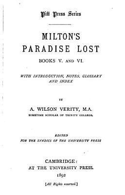 Paradise Lost  Books V and VI PDF