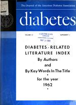 Diabetes Literature Index, by Authors and by Keywords in the Title