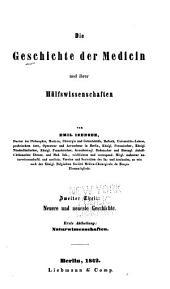 Die Geschichte der Medicin: Band 2,Teil 1