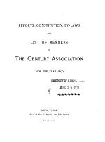 The Century Association Year-book