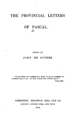 The Provincial Letters of Pascal PDF