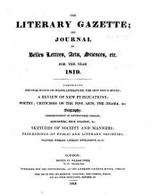 The Literary Gazette: A Weekly Journal of Literature, Science, and the Fine Arts, Volume 3