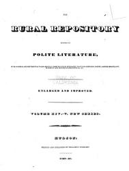 The Rural Repository Devoted To Polite Literature Book PDF