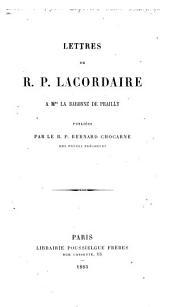 Lettres à Mme la baronne de Prailly