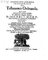 De testamentis ordinandis