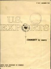 U.S. Exports: Commodity by country, Issue 12
