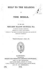 Help to the reading of the Bible