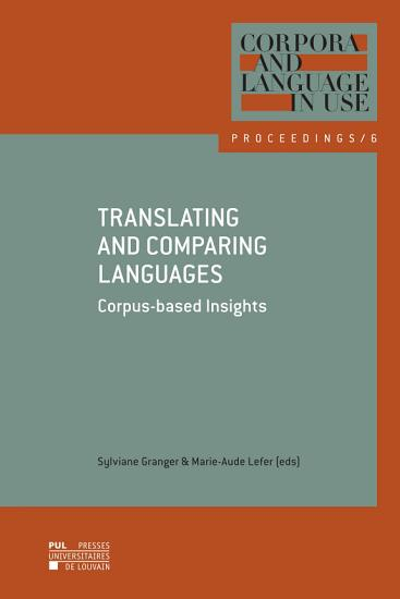 Translating and Comparing Languages  Corpus based Insights PDF
