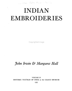 Indian Embroideries PDF