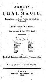 Archiv der Pharmazie und Berichte der Deutschen Pharmazeutischen Gesellschaft: Band 65