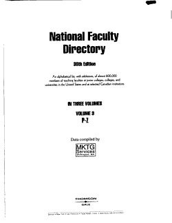 The National Faculty Directory PDF