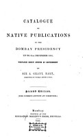 Catalogue of Native Publications in the Bombay Presidency Up to 31st December 1864 PDF
