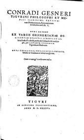 Physicarum Meditationum, annotationum & Scholiorum lib. V.