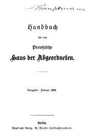 Handbuch für das Preussische Haus der Abgeordneten