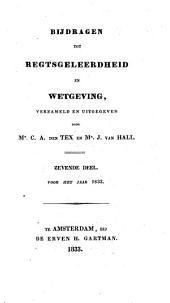 Bijdragen tot regtsgeleerdheid en wetgeving: Volume 1