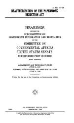 Reauthorization of the Paperwork Reduction Act