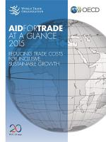 Aid for Trade at a Glance 2015 Reducing Trade Costs for Inclusive  Sustainable Growth PDF