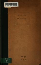 Das Sachenrecht des Entwurfs eines Bürgerlichen Gesetzbuchs in der Fassung der dem Reichstag gemachten Vorlage