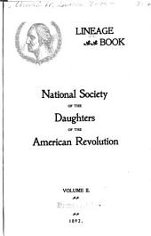 Lineage Book - National Society of the Daughters of the American Revolution: Volume 2