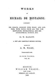 Works of Michael de Montaigne PDF